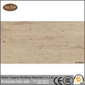High Glossy Wooden Look Ceramic Thin Tiles Decoration Use