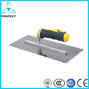 Plastic Handle Masonry Concrete Tools Stainless Steel Plastering Trowel pictures & photos