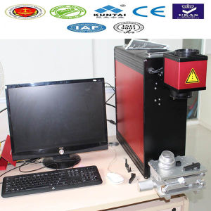 Portable Fiber Laser Marking Printing Machine for Nameplate pictures & photos