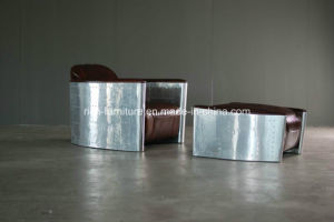 New Model Luxury Aviator Vintage Leather Sofa with Aluminum Cover pictures & photos