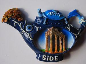 Ceative Teapot Polyresin Fridge Magnet for Souvenirs pictures & photos