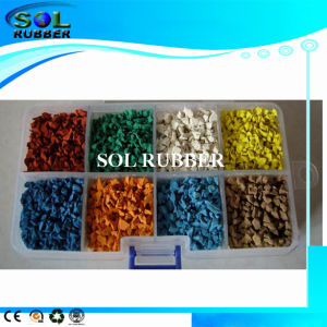 Bright Color Sport Flooring EPDM Rubber Granules pictures & photos