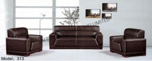 PVC Brown Modern Popular Office Furniture Sofa
