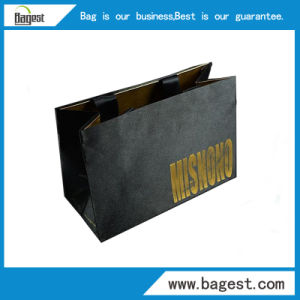 Full Black Art Paper Gift Bag Shopping Bag for Clothes pictures & photos