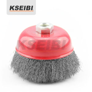Hot Sales Kseibi Crimped Cup Wire Brush with Nut pictures & photos