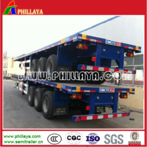 40ft Flatbed Truck Chassis Container Semi Trailer with Container Locks pictures & photos