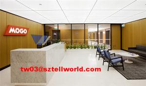 Small Salon Reception Desk White and Green Reception Table Hotel Reception Desk pictures & photos