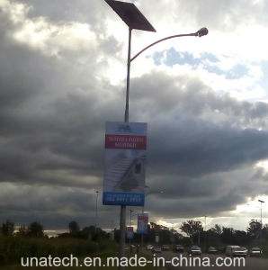 Solar Street Post Advertising Outdoor LED Banner Light Box pictures & photos