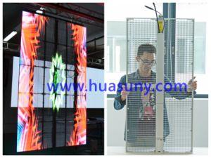 P6mm Durable Ultra Light Aluminum Alloy Transparent Glass LED Display