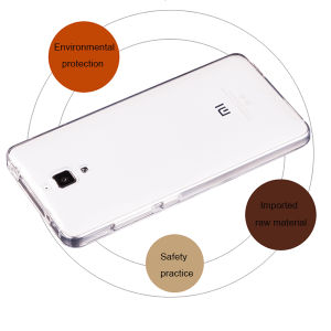 Cheap Mobile Cover Transparent TPU Case Crystal Cover for Xiaomi Mi 4