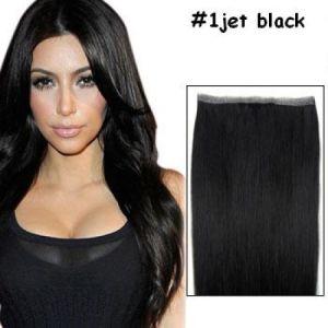 Black Color Tape Skin Hair Weft 100% Peruvian Human Hair