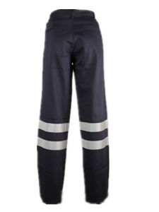 En11611 and En11612 Flame Retardant Mens Navy Refelctive Safety Work Cargo Pants pictures & photos