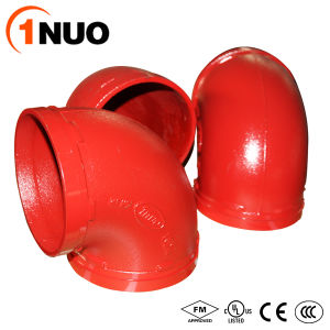 1nuo Grooved Casting Ductile Iron Pipe Fittings 90 Degree Elbow pictures & photos