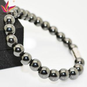 Htb001 High Quality Beaded Hematite Ball Main Stone Popular Beaded Bracelet pictures & photos
