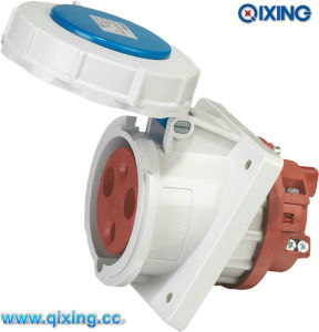 125A IP67 Cee Power Socket for Industrial Panel Mounted (QX216) pictures & photos