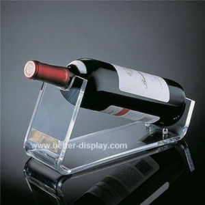 Clear Acrylic Single Bottle Wine Rack Btr-D2002 pictures & photos