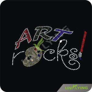 Art Rocks Rhinestone Motif