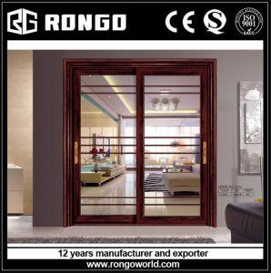Tempered Double Glazing Aluminum Sliding Door pictures & photos