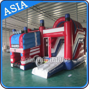 Inflatable Fire Truck Bounce House with Slide, Inflatable Fire Truck Price pictures & photos