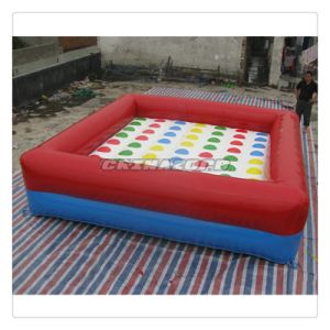 8*7 Rows Inflatable Twister Bouncer Challenge Game for Sale