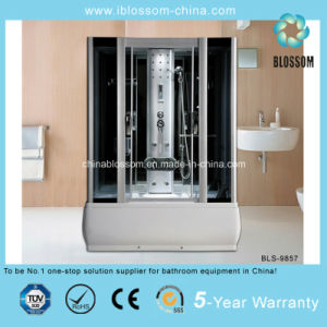 Beautiful Style Grey Glass Massage Steam Shower Room (BLS-9857) pictures & photos