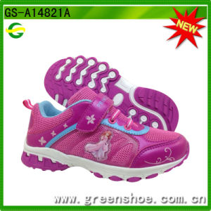 Fashion Carton Running Kids Shoes for Girl pictures & photos
