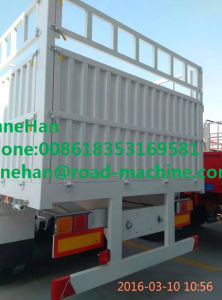 Classical Shmc 3 Axles High Coloumn Cargo Semi Trailer Trucks Option Demission pictures & photos