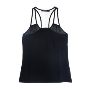 Women Fashion Clothing Sports Wear Round-Neck Plain Cotton Tank Top pictures & photos
