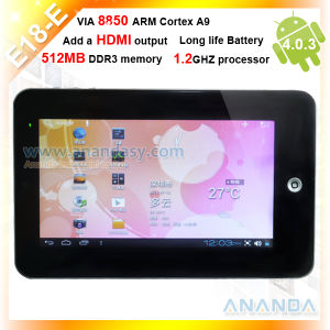 A9 Android 4.0 Tablet PC E18-E HDMI WiFi 3G 7inch Android Tablet
