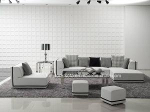 Living Furniture Fabric Sofa Leather Sofa (S041)
