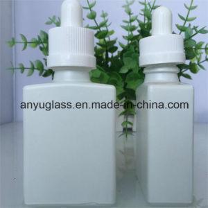 Milk White Essential Oil Glass Bottle with Plastic Aluminium Cap pictures & photos