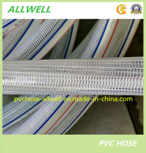 PVC Plastic Flexible Knitted Transparent Clear Pipe Fiber Reinforced Garden Hose pictures & photos