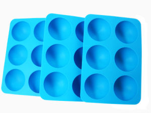 FDA Standard Half Sphere Logo Customized Silicone Ice Ball Maker pictures & photos