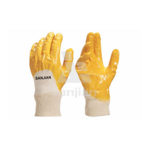 Cheap Nitrile Coating Interlock Gloves pictures & photos
