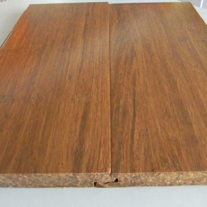 Handscraped T&G Carbonized Solid Strand Woven Bamboo Flooring pictures & photos