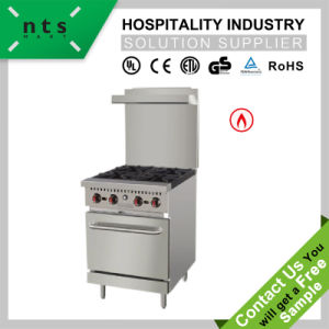 4 Gas Burner with Gas Oven with Rear Plate pictures & photos