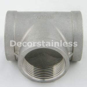 Stainless Steel 316 Tee Pipe Female-Female-Female pictures & photos