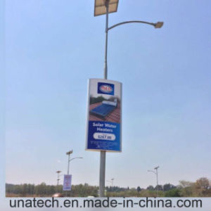 Solar Panel Outdoor Street Pillar Banner LED Advertising Media Light Aluminium Box pictures & photos