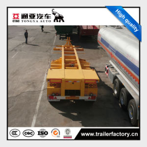 China Manufacturer Hot Selling Skeleton Container Semi Trailer pictures & photos