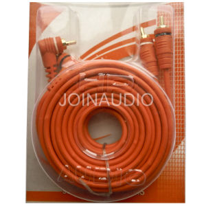 Audio Cable RCA Cable 2RCA to 2RCA Cable (2R-2R 90) pictures & photos