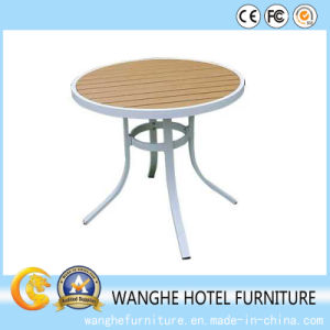 High Quality Wood Table Board Metal Coffee Table for Outdoor pictures & photos