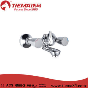 Two Handle Brass Body Chrome Bathroom Show Mixer (ZS63101)