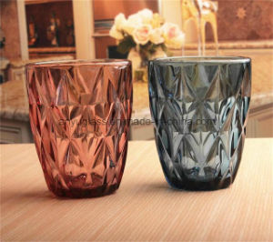 Colorful Glass Cups with Customizd Logos Drinking Glass Mugs for Juice Water