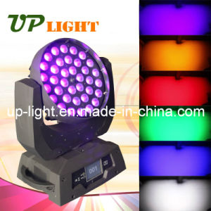 Rgbwap (UV) 6in1 Zoom 3618 LED Moving Head Light pictures & photos