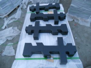 China Black Granite Stone Cross Monuments/ Headstone for Cemetery pictures & photos