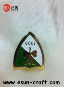 Custom Gold Metal Souvenir Badge