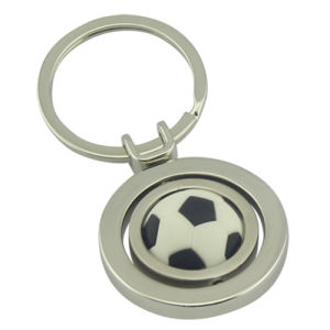 Promotion Spinning Rotated 3D Sport Football Keyring with Logo (F1028)