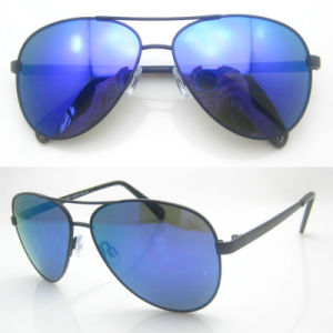 Hot Sale Aviatorshaped Real Metal Sunglasses pictures & photos