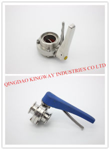 Sanitary Clamped Butterfily Valve with Multi-Position Handle pictures & photos