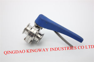 Sanitary Clamped Butterfily Valve with Multi-Position Handle